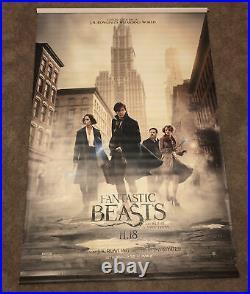 FANTASTIC BEASTS Original 5' x 8' Vinyl Movie Theater Banner 2016