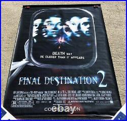 Final Destination 2 Promo Theater Huge Vinyl Banner 6' x 4' Horror Movie
