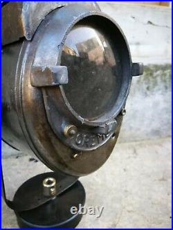 French vintage industrial lamp Cremer theatre movie spotlight spotac n2