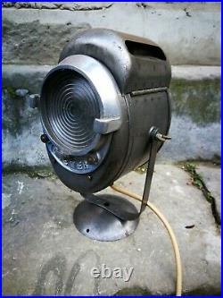French vintage industrial lamp Cremer theatre movie spotlight spotac n4