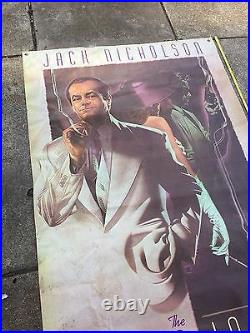Giant 1990 Two Jakes Movie Theatre Vinyl Poster JACK NICHOLSON 80x46 Man Cave