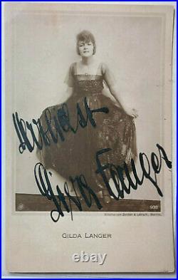 Gilda Langer Theater / Film original Autogramm Größe 14 x 9 cm