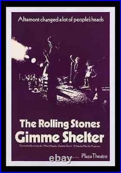 Gimme Shelter The Rolling Stones Plaza Theater Purple Premiere Movie Poster