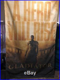 Gladiator Oversized Movie Theater Banner Poster Original over 6' high
