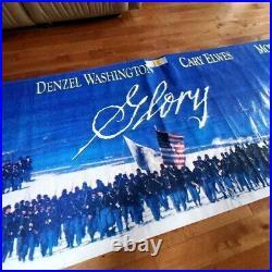 Glory 1989 Movie Theater Banner Washington Broderick Braugher Elwes ORIGINAL Wow