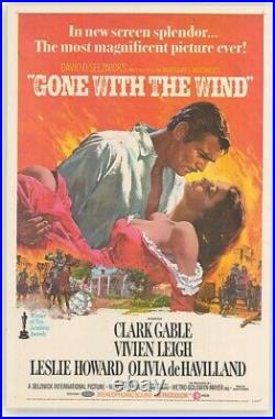Gone With The Wind Origanal Movie Poster Used At Theater 27×41