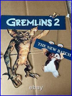 Gremlins 2 Rare Movie Store Hanging Display Gizmo 1990 Original Vintage Theater
