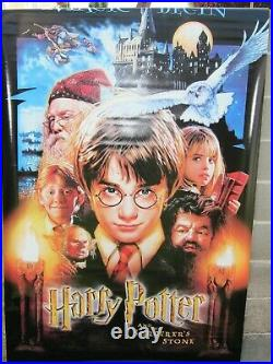 HARRY POTTER & SORCERER'S STONE 2001 Original 4X8' US Movie Theater Lobby Banner