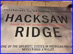 Hacksaw Ridge 6ftx12ft Movie Theater Vinyl 1 Sided Authentic Regal Cinema