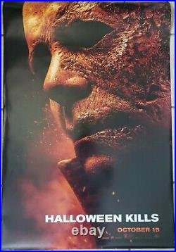 Halloween Kills 27x40 Double Sided Movie Theater Poster Michael Myers