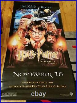 Harry Potter & Sorcerer's Stone Huge 4' x 8' Theater Promo Vinyl Poster Banner