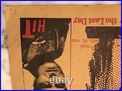 Hells Angels 1930 Original GARRICK THEATER HAND PRINTED AD POSTER HOWARD HUGHES