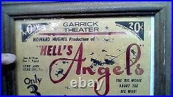 Hells Angels Orig. 1934 Garrick Theater Handbill Hand Printed Howard Hughes J