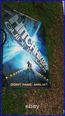 Hitchhiker's Guide To The Galaxy Original 2005 Theater Banner Poster 6' by 9