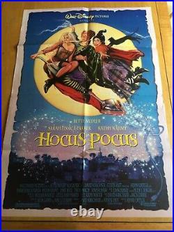 Hocus Pocus Original Movie Poster 27x40 Good Condition D/S