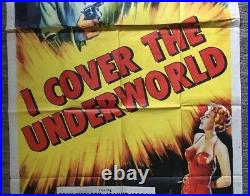 I Cover The Underworld Original Vintage Movie Poster Theater Pin-up 3 Sheet HUGE