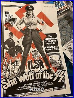 ILSA SHE WOLF OF THE SS 1974 ORIG. THEATER ISSUED POSTER 23x 35