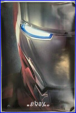 Iron Man 2007 Teaser Original Movie Poster Theater Two Sided 27 x 40 Marvel