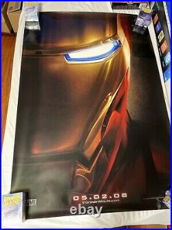 Iron Man Teaser Double Sided 27x40 Original Movie Theater Poster Marvel Rare