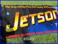 JETSONS THE MOVIE 1990 Original 3X10' US Vinyl Movie Theater Lobby Banner