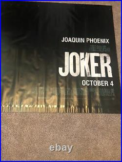JOKER Original Vinyl Movie Theater Banner 5' X 10' 2019 JOAQUIN PHOENIX