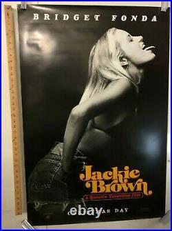 Jackie Brown Original Movie Theater Promo Poster Bridget Fonda 1997 Vintage