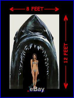 Jaws II Theater Lobby Entrance Display Kit! Movie Poster Spectacular Bar-none