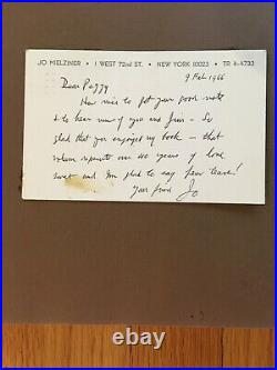 Jo Mielziner Typed Letter Signed and Written Note affixed Designing Theatre
