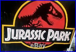 Jurassic Park Original 1993 Theater Displayed Vinyl Banner Movie 47 x 61 Inches