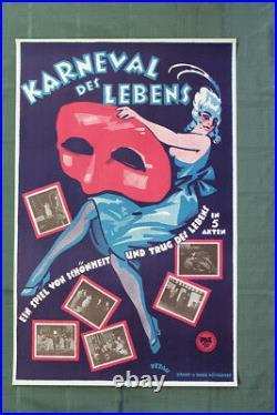 Karneval des Lebens Art by Karl Petau (Germany, 1934) 23 x 35.5 Theatre Poster
