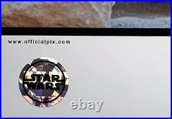 Kenny Baker Star Wars signed photo r2 d2 11x14 official pix theatre wide beckett
