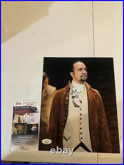 LIN MANUEL MIRANDA HAMILTON BROADWAY SIGNED AUTOGRAPH 8x10 PHOTO PICTURE JSA COA