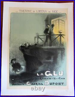 La Glu Original 1910 French Theatre Lb Poster Artwork By Robert Dupont