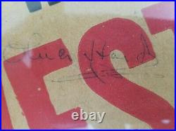 Laurel and Hardy / 1937 Way Out West Signed Original Theater Lobby Poster