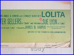 Lolita (1962) original movie theatre standee Stanley Kubrick, Sue Lyon