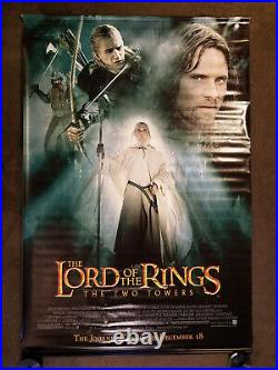 Lord of The Rings Two Towers Movie Theater Promo Vinyl Banner (4' x 6')