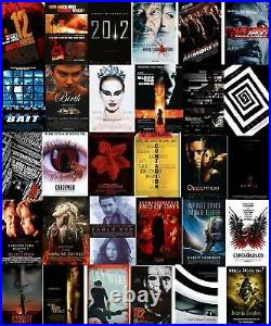 Lot of 81 Horror Movie Poster 27 x 40 DS Theater Thriller Scifi 90's 2000's