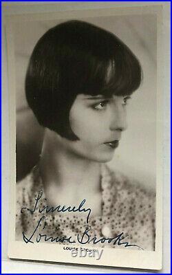 Louise Brooks Theater / Film original Autogramm Größe 14 x 9 cm