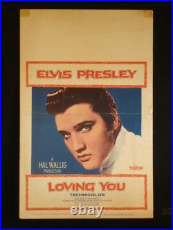 Loving You 1957 Elvis Presley Original Used Theater Window Card