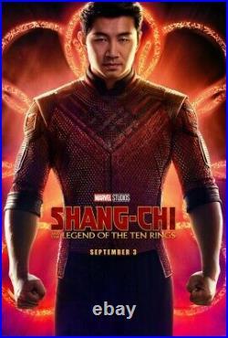 MARVEL SHANG-CHI TEN RINGS Original 27x40 DS Theater Poster SET LOT AVENGERS CAP
