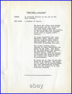 MOBY DICKREHEARSED (1962) Theater script by Orson Welles