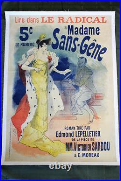 Madame Sans-Gene Art by Jules Cheret (France, 1925) 48 x 34 Theatre Poster LB