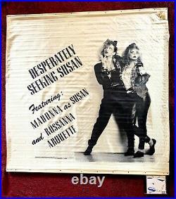 Madonna Huge Desperately Seeking Susan Movie Theater Satin Promo Banner Poster