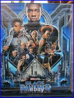 Marvel BLACK PANTHER 2018 Original 5X8' US Movie Theater Vinyl Banner C Boseman