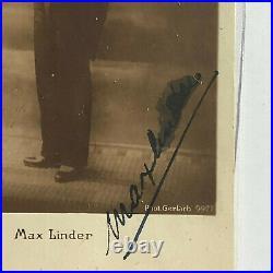Max Linder Theater / Film original Autogramm Größe 14 x 9 cm