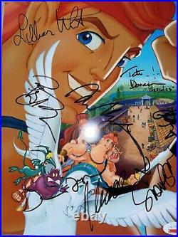 Menken Donovan +cast signed hercules disney musical movie poster Authenticated