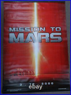Mission to Mars 47 x 68 1/2 Original Vinyl 2000 Movie Theater Poster Banner