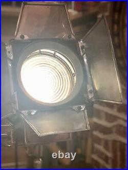Mole Richardson Film/Theatre Light, 1930s Film Set, Rare Original Wheeled Stand