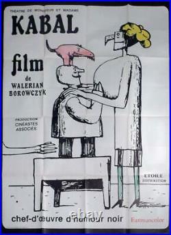 Mr. And Mrs. Kabal's Theatre Walerian Borowczyk Rare Original Movie Poster