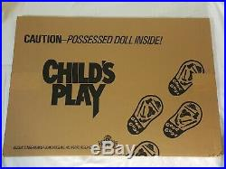 NEW Original Child's Play Movie Standee 1989 Lobby Theater Display Chucky SEALED